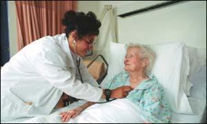Elderly Woman With Heart Disease